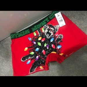 Other - Men's NEW Christmas Boxers. Cat and Lights. BUNDLE